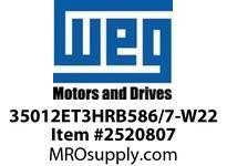 WEG 35012ET3HRB586/7-W22 350HP 1200 3 60 575V VJPAMENSK TEFC-NEMA Pr