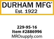 Durham 229-95-16 SCOOPDS 16#95 GRAY