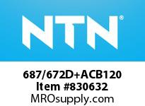 NTN 687/672D+ACB120 TAPERED ROLLER BRG