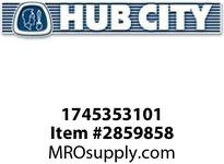 HUB CITY 1745353101 SEAL DOUBLE LIP N 111/112 Spherical Bearing Seal