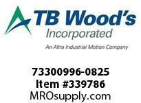 TBWOODS 73300996-0825 73300996-0825 11S T-SF CPLG