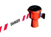 """Cortina 03-603-001-01-04 Skipper Org Unit - Red/Wht Stripes & """"Danger"""""""