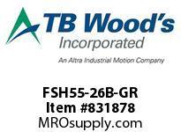 TBWOODS FSH55-26B-GR CPL FSH55 26B X GH STL