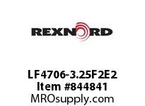 REXNORD LF4706-3.25F2E2 LF4706-3.25 F2 T2P N.125 LF4706 3.25 INCH WIDE MATTOP CHAIN
