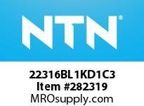 NTN 22316BL1KD1C3 SPHERICAL ROLLER BRG