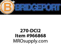 "Bridgeport 270-DCI2 1/2"" compression connector insluated"