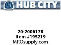 HUBCITY 20-2006178 5S 15.22/1 S 2.688 PARALLEL SHAFT DRIVE