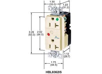 HBL-WDK HBL8362RSA DUP SPD RCPT HG 20A 125V 5-20R RD