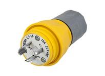 HBL_WDK HBL24W49 PLUG W/TIGHT L6-15P 15A 250V