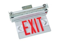 Fulham FHNY22WSEM FireHorse NYC Exit Sign - LED Recessed Edge-Lit - White Housing - Single Face - Battery Backup