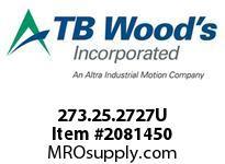 TBWOODS 273.25.2727U VARITORK CLUTCH 25 5/16 --5/16