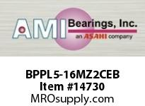 AMI BPPL5-16MZ2CEB 1 ZINC NARROW SET SCREW BLACK PILLO