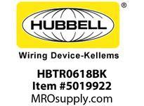 HBL_WDK HBTR0618BK WBPREFORM RADI 90 6^Hx18^W BLACK