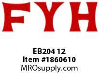 FYH EB204 12 INSERT BEARING-SETSCREW LOCKING