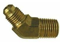 MRO 10455B 1/2 X 3/8 M FLARE X MIP BS 45 EL