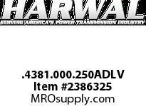 Harwal .4381.000.250ADLV .438 x 1.000 x .250ADL FPM