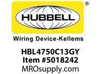 HBL_WDK HBL4750C13GY RACEWAY 13^ COVER HBL4750 SER GY
