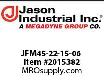 Jason JFM45-22-15-06 24* METRIC SWIVEL 45* ELBOW
