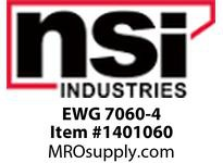 NSI EWG 7060-4 GENERAL PURPOSE ELECTRICAL TAPE YELLOW 3/4^ X 60 FT