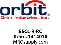 Orbit EECL-R-RC LED EXIT/EMERG. COMBO RED - REMOTE CAP.