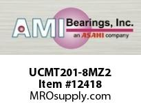 AMI UCMT201-8MZ2 1/2 ZINC WIDE SET SCREW STAINLESS T W/ZINC COATED BEARING