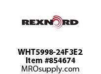 REXNORD WHT5998-24F3E2 WHT5998-24 F3 T2P WHT5998 24 INCH WIDE MATTOP CHAIN W