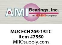 AMI MUCECH205-15TC 15/16 STAINLESS SET SCREW TEFLON HA BRG TEFLON COAT HOUSING