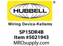 HBL_WDK SP15DR4B 4 SEAT PWR BOX DECO 10FT PLUG BRACKET