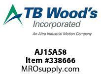 TBWOODS AJ15A58 AJ15X5/8 STD FF COUP HUB