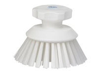 REMCO 38855 Vikan Scrub Brush Round Scrub Brush- Stiff- White
