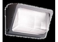 RAB WP2SH150/480 WALLPACK 150W HPS 480V CWA GLASS LENS + LAMP BRONZE