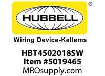 HBL_WDK HBT4502018SW WBPRFRM RADI 45 2Hx18W PREGALVSTLWLL
