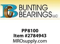 BUNTING PP8100 2 x 1/2 x 8 - 1/8 SAE841 Sintered Brnz Plate SAE841 Sintered Brnz Plate