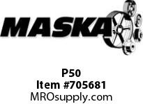Replaced by Dodge 011105 see Alternate product link below Maska P50 RUBBER ELEMENT FOR MASKA FLEX