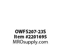PTI OWFS207-23S 2-BOLT FLANGE BEARING-1-7/16 OWFS 200 SILVER SERIES - NORMAL DUT