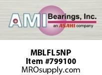 AMI MBLFL5NP 25MM STAINLESS NAR SET SCREW NICKEL ROW BALL BEARING