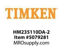 TIMKEN HM235110DA-2 TRB Double Cup 8-12 OD