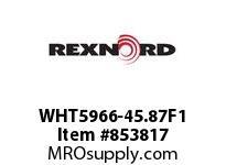 REXNORD WHT5966-45.87F1 WHT5966-45.875 F1 T5P WHT5966 45.875 INCH WIDE MATTOP CHA