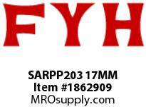 FYH SARPP203 17MM RUBBER MOUNTED PRESSED STEEL ECCENTRIC COLLAR
