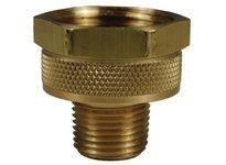 """DIXON 5031208C 1/2"""" Female GHT x 1/2"""" Male NPTF Brass Non Swivel"""