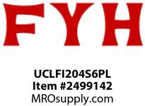 FYH UCLFI204S6PL 20MM LDSS STAINLESS PLASTIC 2 BLT FLANGE