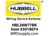 HBL_WDK HBL28W77BK PLUG W/TIGHT 3P 30A 600V L17-30P BK