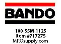 Bando 100-S5M-1125 SYNCHRO-LINK STS TIMING BELT NUMBER OF TEETH: 225 WIDTH: 10 MILLIMETER
