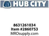HUB CITY 8631261034 PLUG PIPE SOCKET 1/2NPT 18.8 SS Service Part