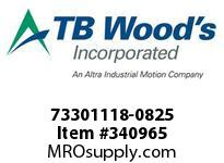 TBWOODS 73301118-0825 73301118-0825 11S T-SF CPLG