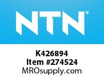 NTN K426894 MEDIUM SIZE TAPERED ROLLER BRG