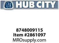 HUB CITY 8748009115 O-RING -113 Service Part