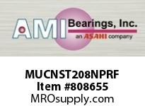 AMI MUCNST208NPRF 40MM STAINLESS SET SCREW RF NICKEL TAKE-UP SINGLE ROW BALL BEARING