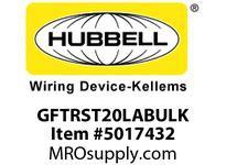 HBL_WDK GFTRST20LABULK 20A COM SELF TEST TR GFR LT ALMOND BULK