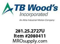 TBWOODS 281.25.2727U VARITORK CLUTCH 25 5/16 --5/16